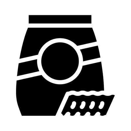 ricciutelle pasta glyph icon vector. ricciutelle pasta sign. isolated contour symbol black illustration