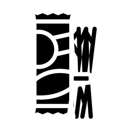 spaghetti pasta glyph icon vector. spaghetti pasta sign. isolated contour symbol black illustration