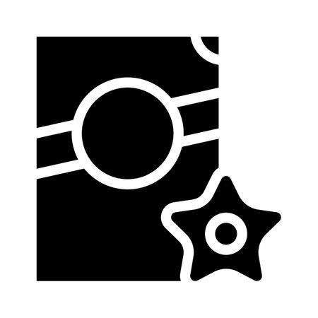 stelline pasta glyph icon vector. stelline pasta sign. isolated contour symbol black illustration