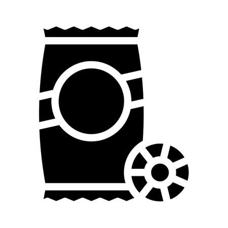 ruote pasta glyph icon vector. ruote pasta sign. isolated contour symbol black illustration