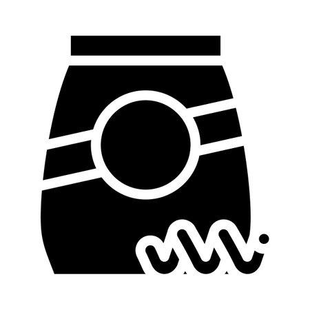 collentani pasta glyph icon vector. collentani pasta sign. isolated contour symbol black illustration Vettoriali