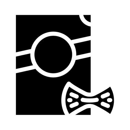 farfalle pasta glyph icon vector. farfalle pasta sign. isolated contour symbol black illustration Vettoriali