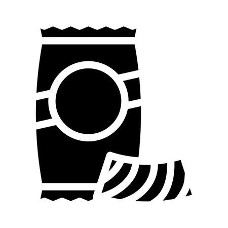 riccioli pasta glyph icon vector. riccioli pasta sign. isolated contour symbol black illustration