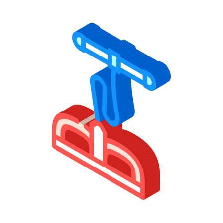 body training gym equipment isometric icon vector. body training gym equipment sign. isolated symbol illustration