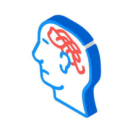 confused thoughts isometric icon vector. confused thoughts sign. isolated symbol illustration