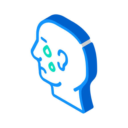 depression problem isometric icon vector. depression problem sign. isolated symbol illustration Vektorgrafik