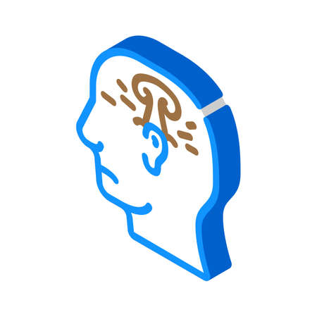 post war stress or explosion neurosis isometric icon vector. post war stress or explosion neurosis sign. isolated symbol illustration
