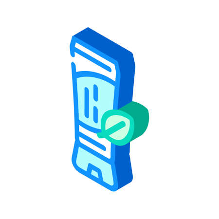 natural tinted moisturizer isometric icon vector. natural tinted moisturizer sign. isolated symbol illustration Vektoros illusztráció