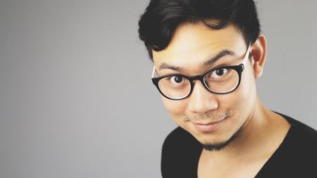 man face: Close up man face.