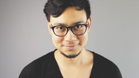 Closeup man face. Stock Photo