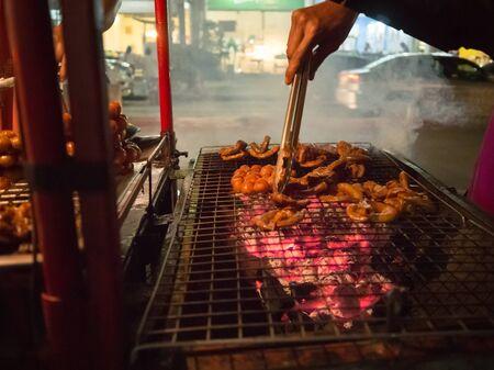 isaan: Bangkok night street food, Isaan sausage.