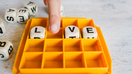 fill in: Live and love fill in the blank.
