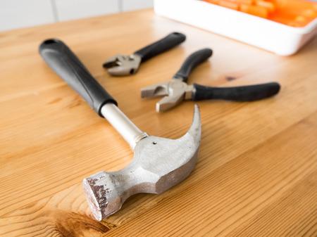versatile: Tool kits for fixing house. versatile tool kits for multi purpose. Stock Photo