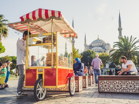 ISTANBUL, TURKEY - SEPTEMBER 10-13 2016: Street and city life of Istanbul. Editorial