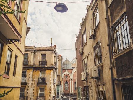 ISTANBUL, TURKEY– SEPTEMBER 10-13 2016: Old town in Beyoglu of Istanbul.