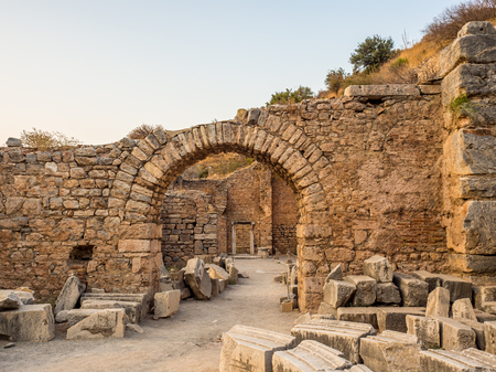 SELCUK, IZMIR, TURKEY– SEPTEMBER 13 2016: Ephesus was an ancient Greek city on the coast of Ionia. UNESCO World Heritage Site. Editorial