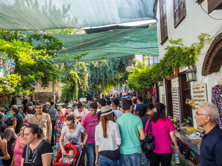 kilometres: SIRINCE, SELCUK, TURKEY– SEPTEMBER 13 2016: Sirince is a Greek village of 600 inhabitants in ?zmir Province, Turkey, located about 8 kilometres east of the town Selcuk. Editorial