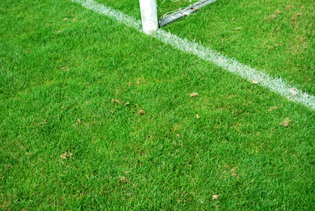 Goal line in football stadium. Stock Photo - 1573443