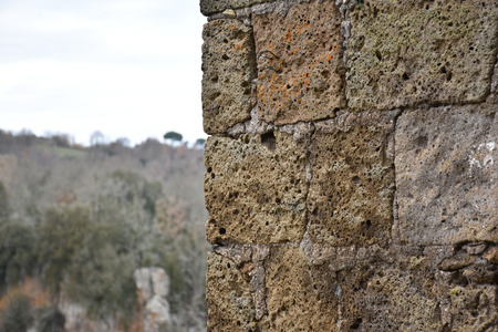 View of tuff wall and background 版權商用圖片
