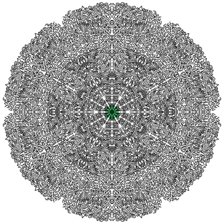 Beautiful circular mandala, illustration 일러스트