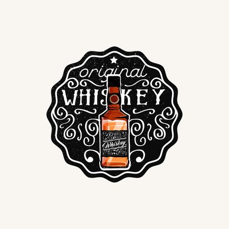irish pub label design: Whiskey label, original Whiskey phrase. Vector.