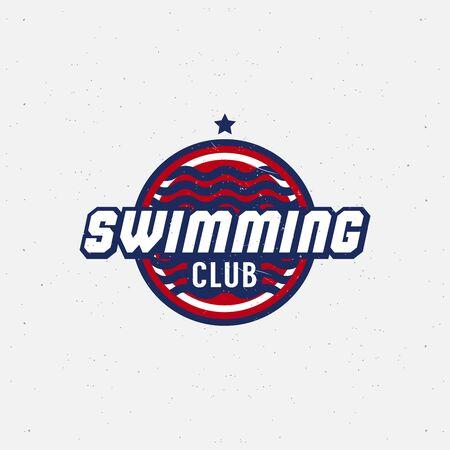 natation: Deporte de la natación para los concursos, torneos, clubes, ligas. Ilustración del vector.