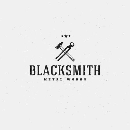blacksmith: Label for blacksmith business company