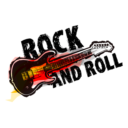 Rock and roll concept Illustration