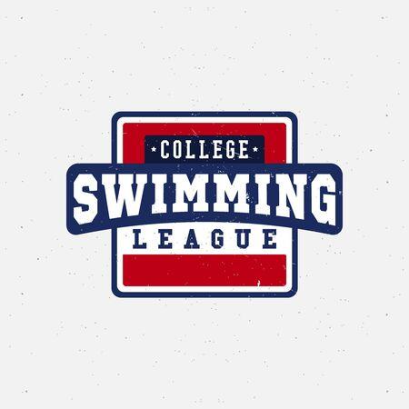 natation: Deporte de la natación concursos, torneos, clubes, ligas. Ilustración del vector.