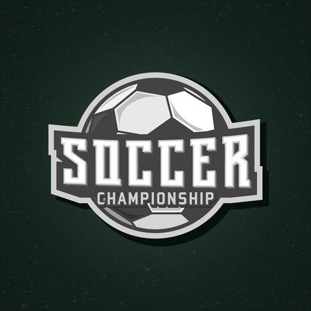 Soccer stamp, soccer championship sticker, vector