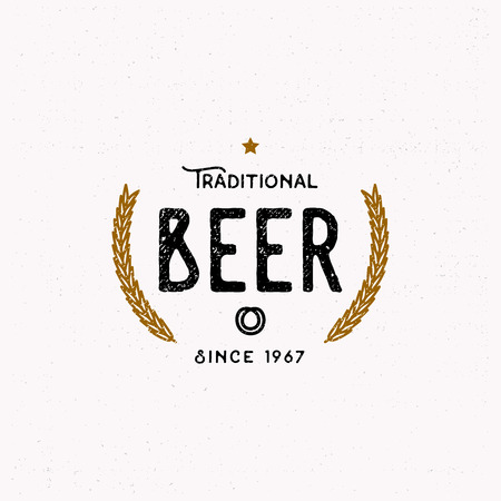 Traditional beer logotype in vintage style, logo template