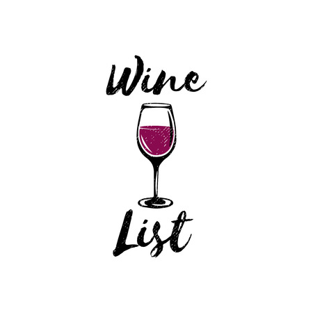 winemaking: Wine list logo template, badge for restaurants and cafes