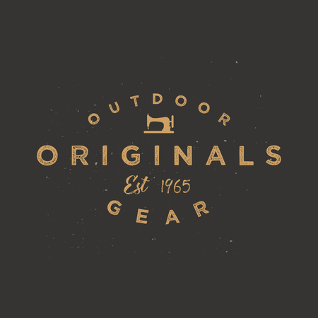Vintage clothing label, apparel badge. Minimal and simple retro design. Original wear logotype Ilustracja