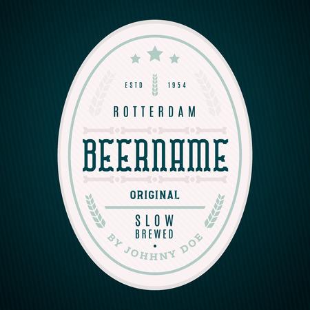 Craft beer label template. Modern label design, professional design for banners, labels, bottle design, beer branding
