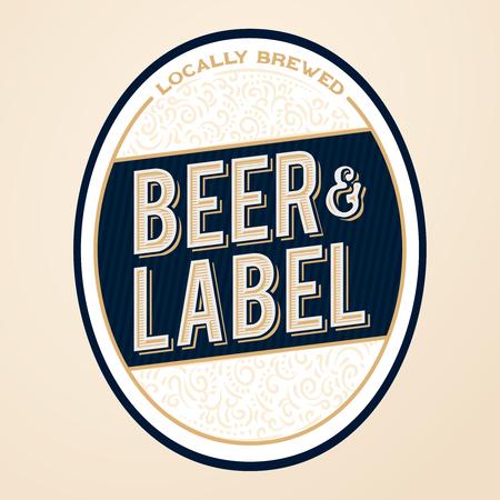 Royal and elite beer bottle label design concept. Beer label concept for bottles, banners, ads, beer branding or more.
