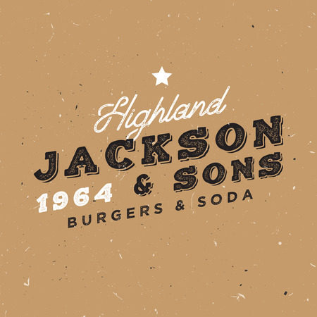 Vintage template. Retro insignia for branding projects. Family owned restaurant badge. Illustration