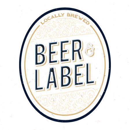 Minimalistic and simple beer bottle label design. Beer label concept for bottles, banners, ads, beer branding or more. Ilustracja