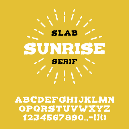 Retro whiskey font, perfect for alcohol labels and badges. Ilustracja