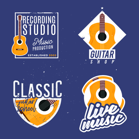 Music themed . Live music modern with acoustic guitar.