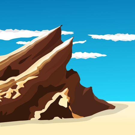 Handsome rocky mountains of Vasquez Rocks, vector illustration Illustration