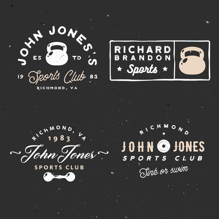 minimal vintage gym club logotype for branding projects, events, cards and other.