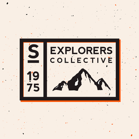 Outdoor badge. Exploring nature themed vintage logotype with grunge effect. National parks  outdoor labels