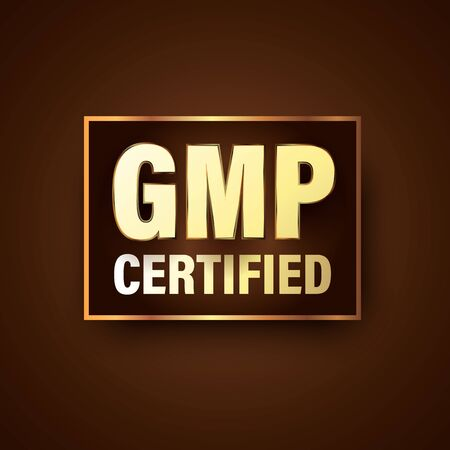 GMP certified luxury themed badge for premium product
