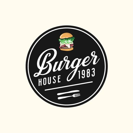 Creative vintage  design for burger houses