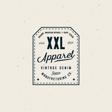 Vintage clothing label template, elegant clean vintage style