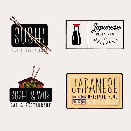 Sushi bar and restaurant  with sushi and rolls related items