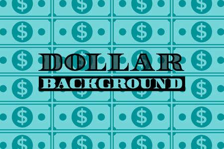 dollar background in simple flat style, vector illustration Illustration