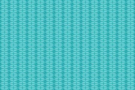 Dollar seamless pattern. simple dollar money icon in greenish blue color. Pattern of simple dollar cash.
