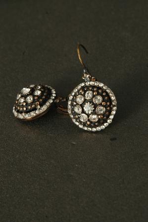 lux: precious stones lux earrings on the floor Stock Photo