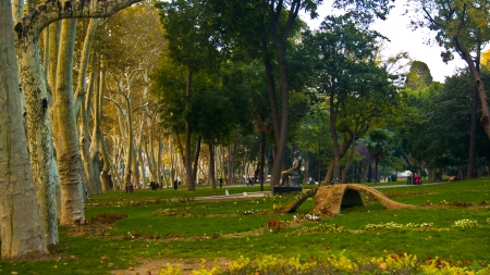 arbre: Gulhane Park in istanbul Stock Photo